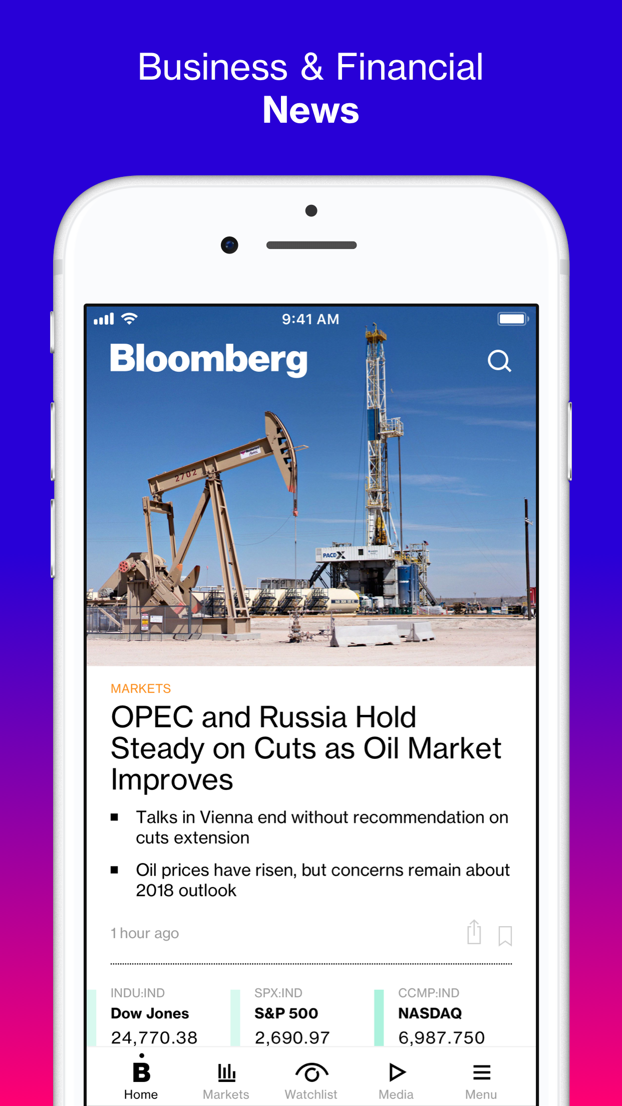 Bloomberg: Business News Screenshot