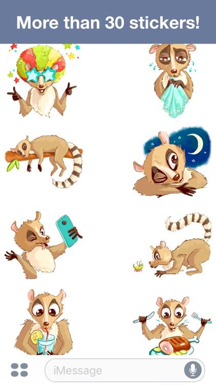 Lemur - Cute stickers screenshot-3