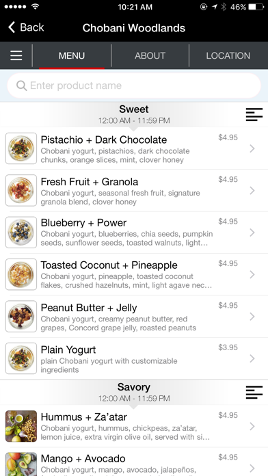 Chobani screenshot two