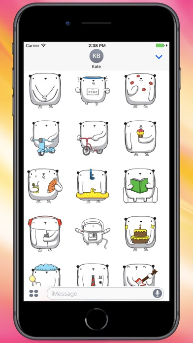 Screenshot for Square Bear Stickers in Colombia App Store