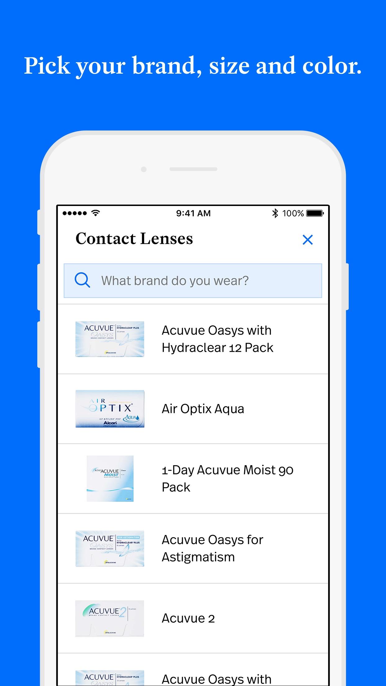 Simple Contacts: Prescriptions Screenshot