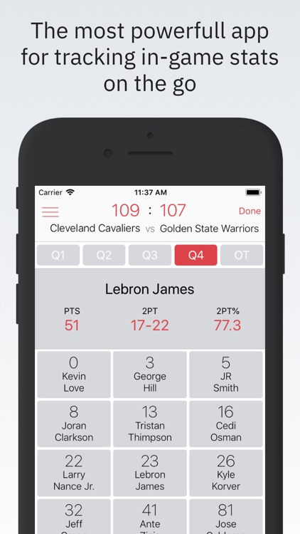 Basketball Stats PRO Phone screenshot-0