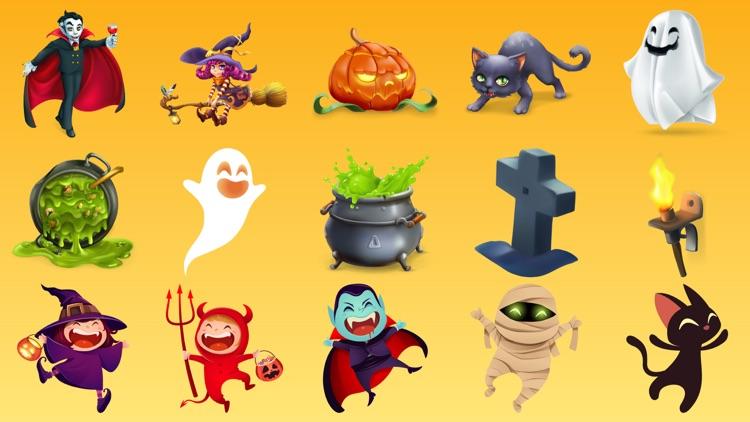 Halloween Party Stickers Emoji