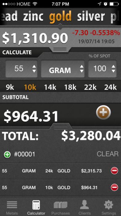 Precious Metal Calculator Pro review screenshots