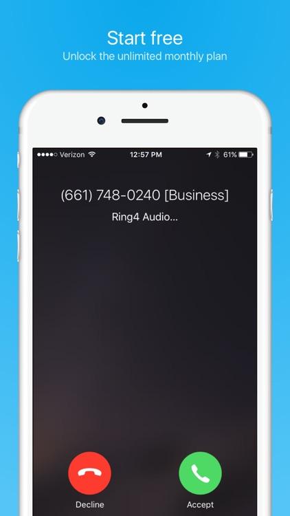 Ring4 - Phone Number on demand screenshot-4