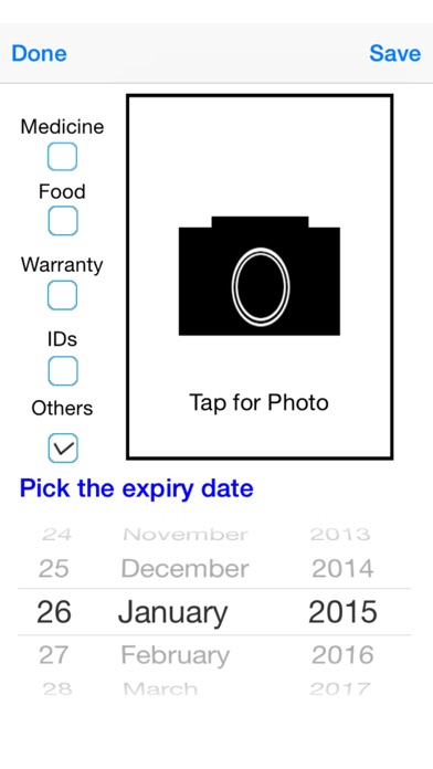Expiry Date Tracker Lite screenshot two