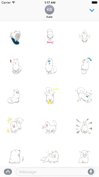 Laika The Samoyed Dog Sticker screenshot 2
