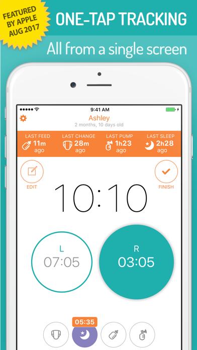 Screenshot for BabyTime Baby Feeding Timer - Breastfeeding & More in Sweden App Store