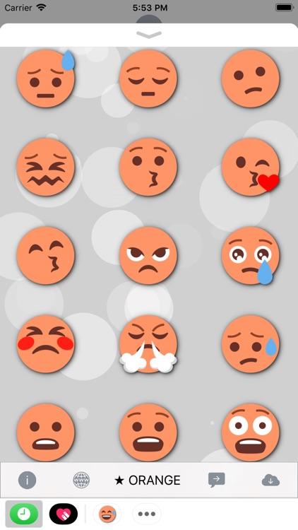 ORANGE Emoji • Stickers screenshot-3