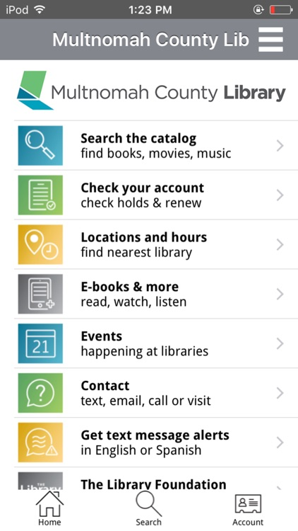 Multnomah County Library Mobile