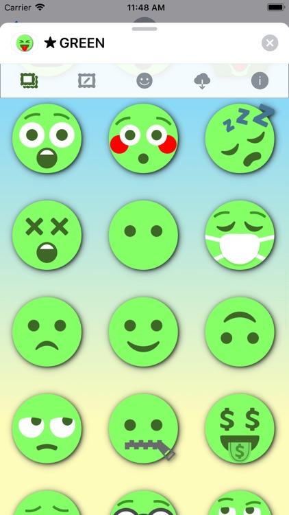 GREEN Emoji • Stickers screenshot-7