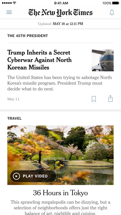 Screenshot 0 for The New York Times's iPhone app'