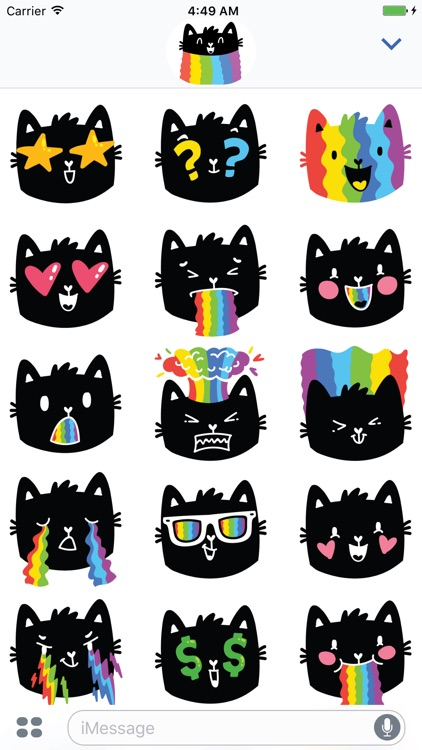 Rainbow cat! Stickers for iMessage screenshot-3