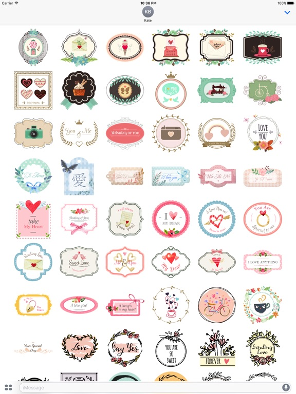 Lovely & Sweet Stickers Pack screenshot 6
