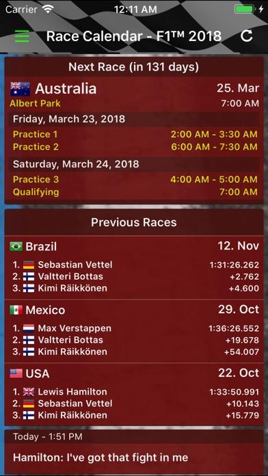Race Calendar 2018 Screenshot 1