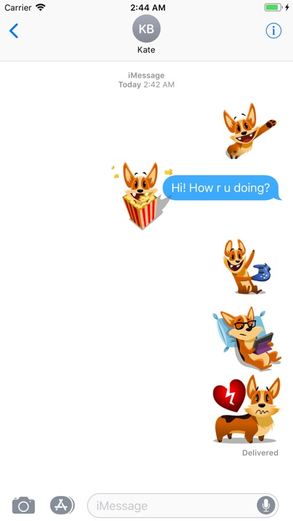 Animated Biscuit Messenger GIF screenshot-3