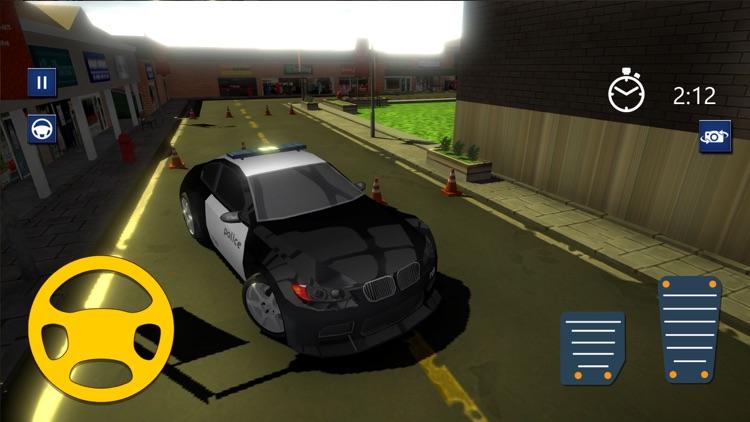 3D Police Car Parking Driver screenshot-3