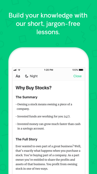 Learn: how to invest in stocks Screenshot