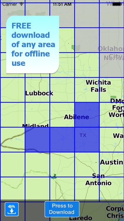 Aqua Map Texas Lakes GPS HD screenshot-5