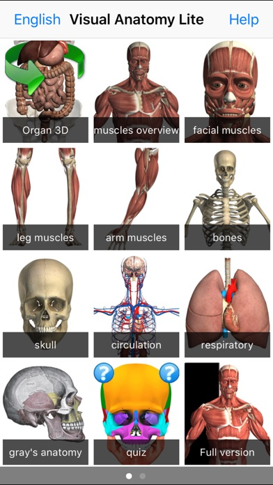 Screenshot for Visual Anatomy Lite in Denmark App Store