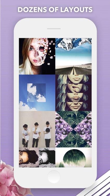 Split Pic Collage Maker Layout