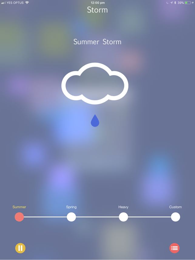 ‎Storm Rain Sounds Screenshot