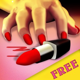 Lipstick Finger Crash : The lady pink knife dance game - Free Edition