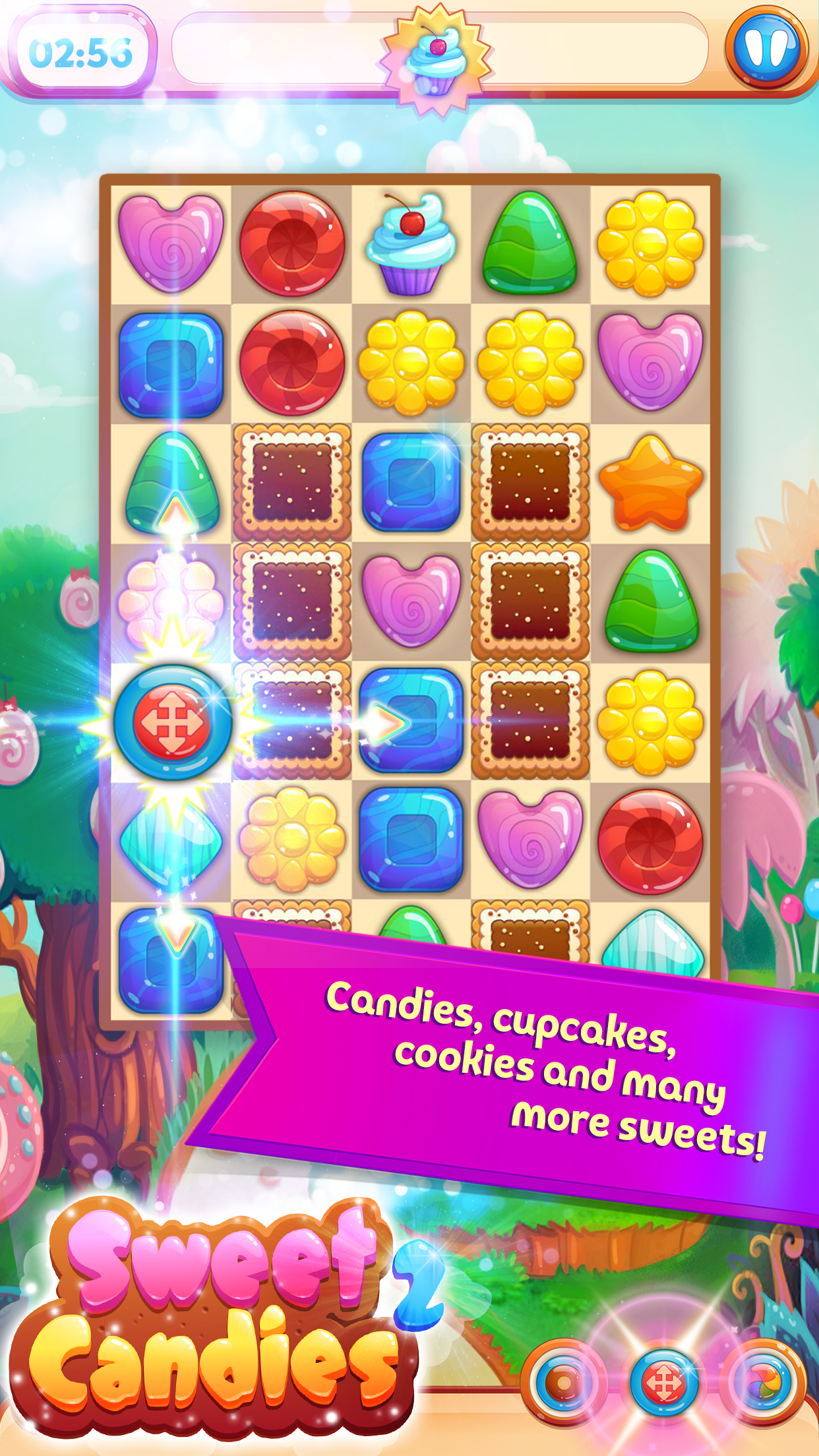 Sweet Candies 2 - Huge Match 3 Screenshot