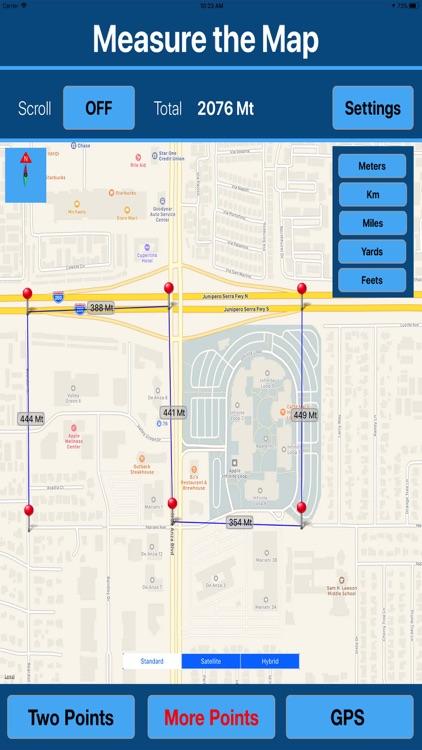 Measure Distance & Area on Map screenshot-3