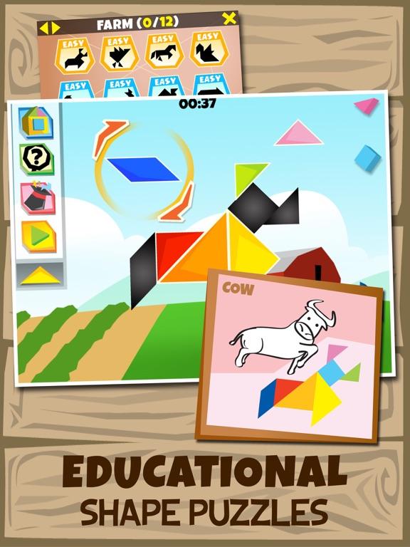 kinder tangram farm animals  apprecs