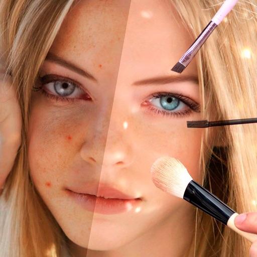 Visage makeup editor plus photo teeth whitener