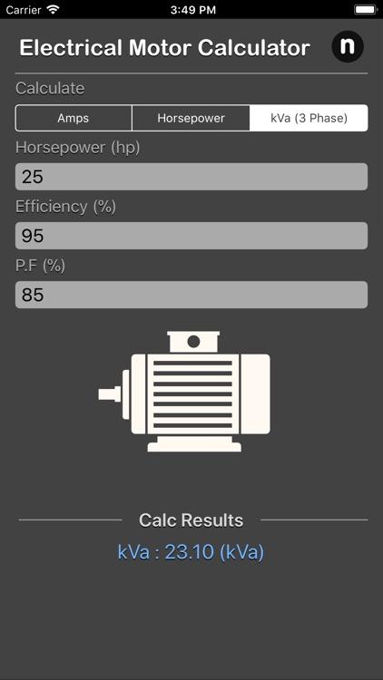 Electrical Motor Calculator screenshot-4