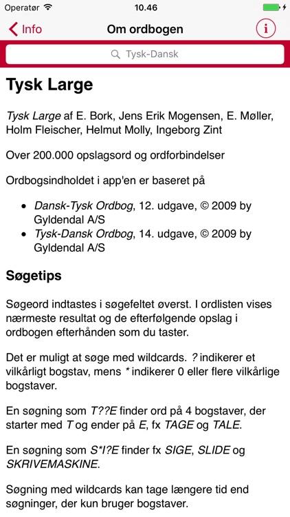 Gyldendal's German Danish Dictionary - Large screenshot-4