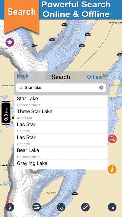Washington Lakes gps offline nautical chart screenshot-3