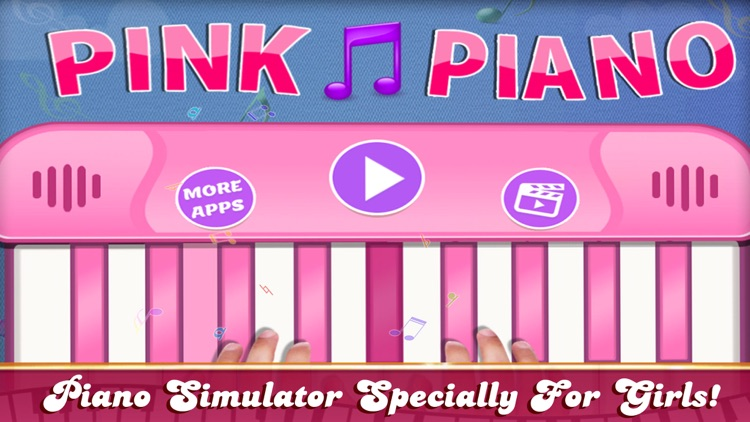 Girly Pink Piano Simulator