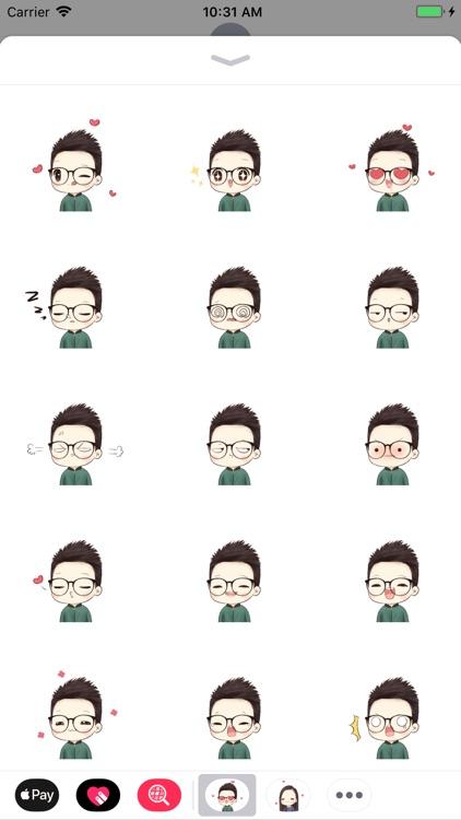 Little Boy-Common Mood Sticker
