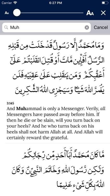 AlQuran - English screenshot-3