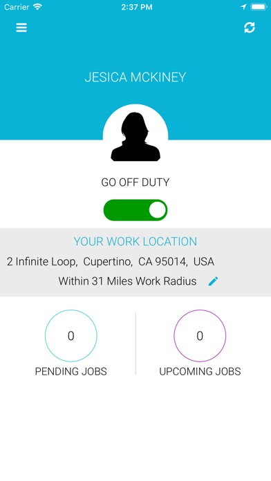 Screenshot of CubeCarWashPro Provider App