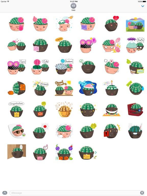 Lovely Cactus Emoji Sticker screenshot 4