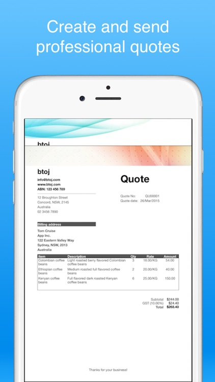 Job Quote maker- Make quotes