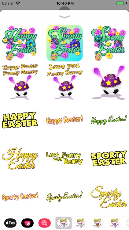Easter Soccer Stickers