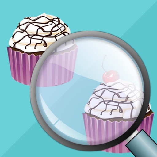 Find the Differences - Sweet Candy Shop & Cupcakes Birthday Deserts Photo Difference Edition Free Game for Kids icon