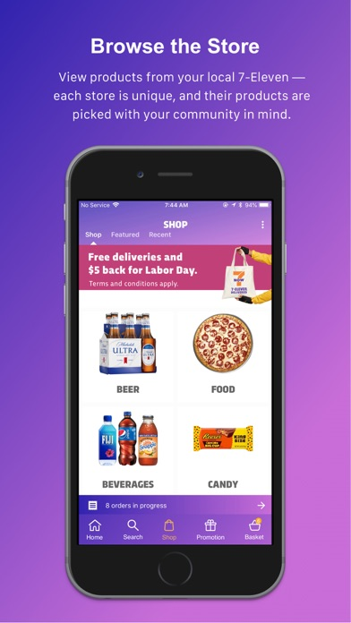 7NOW: Food & Alcohol Delivery Preview 1