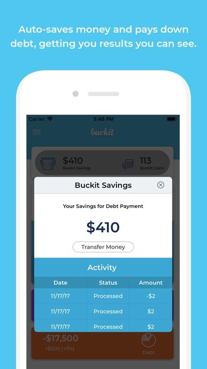 Buckit - Pay Off Debt, Smartly screenshot-3