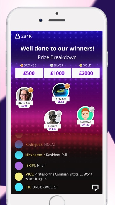 Woosh  - Live Trivia screenshot three
