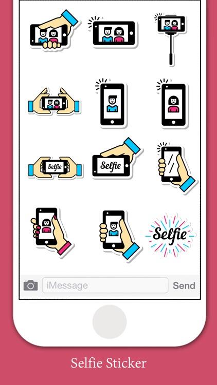 Selfie Lifestyle Stickers