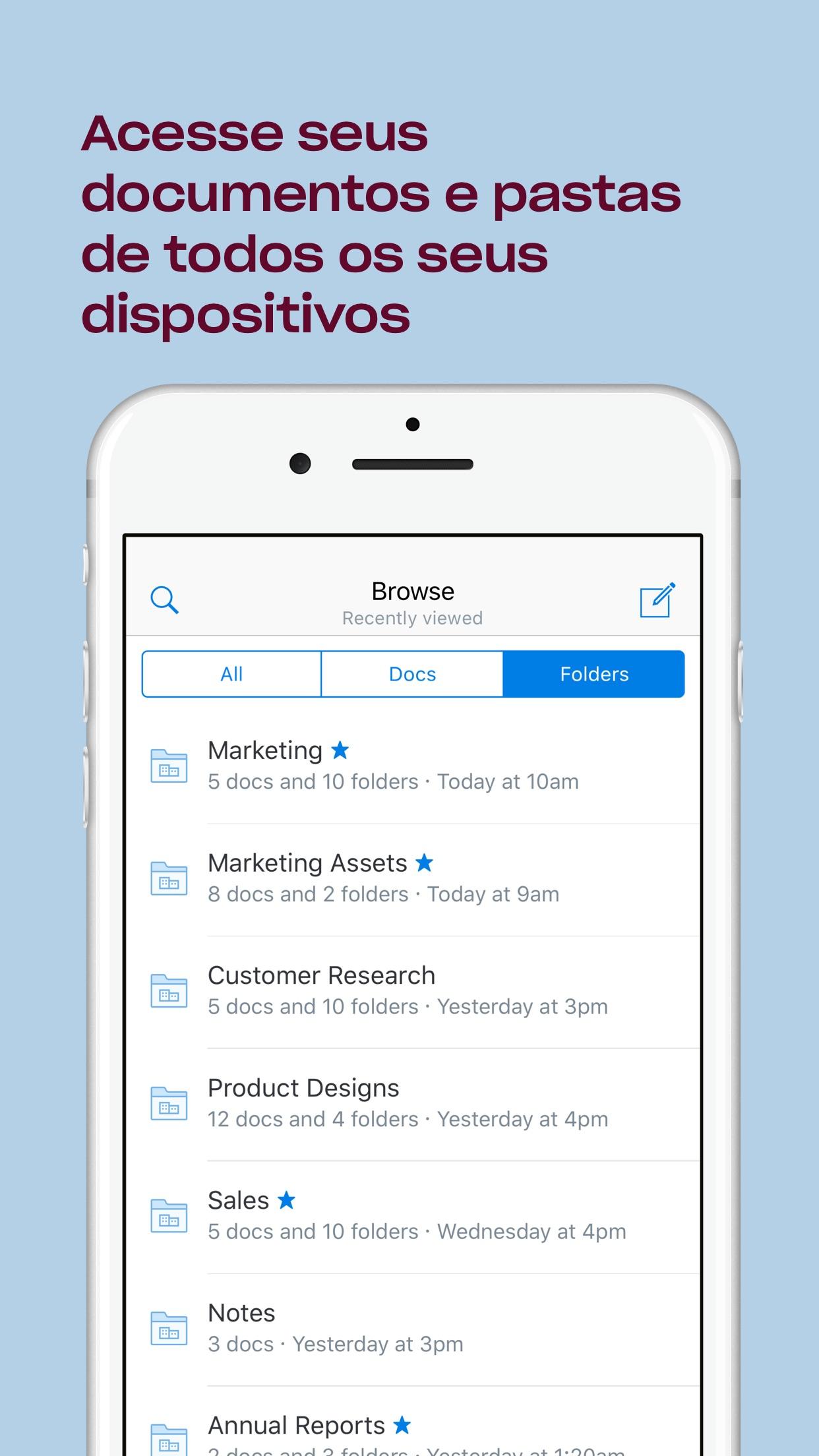 Screenshot do app Paper by Dropbox