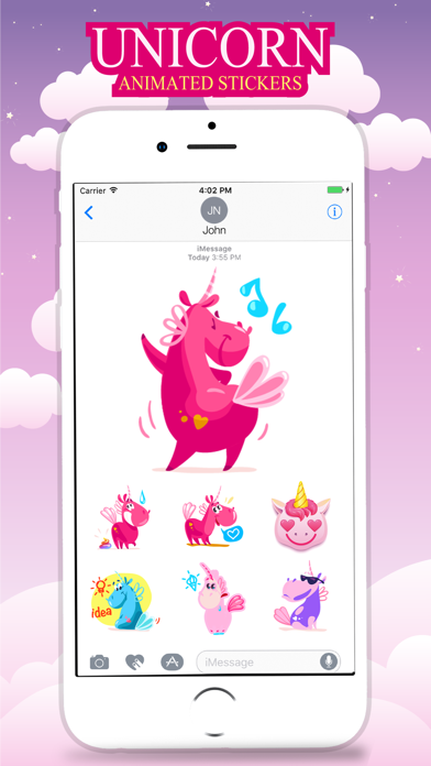 Animated UNICORN Fantastic Stickers screenshot three
