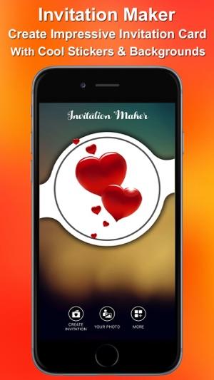Invitations maker on the app store iphone ipad stopboris Gallery