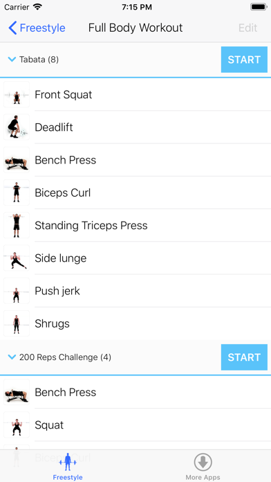 Virtual Trainer Barbell screenshot three